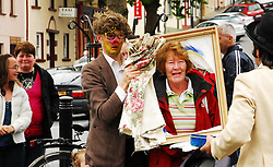 'The Gombeens' Street Theatre in action at the Octagon during Westport Arts Festival 2009...Pic Conor McKeown