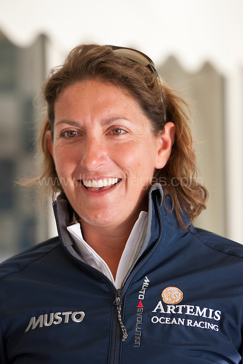 10th August 2011. Cowes. Isle of Wight..Pictures showing Dee Caffari, skipper of Artemis Ocean Racing, before the race...The Artemis Challenge round the Island race...Aberdeen Asset Management Cowes Week 2011...Credit: Lloyd Images.