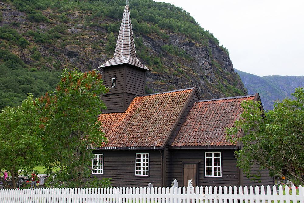 Europe, Norway, Flam. Flam Church.