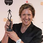 NLD/Amsterdam/20140303 - Uitreiking TV Beelden 2014, Klaas van Kruistum met zijn award