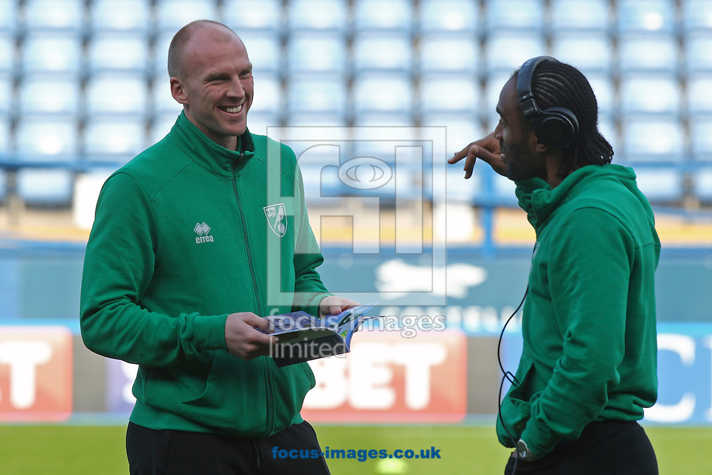 John Ruddy of Norwich and Cameron Jerome of Norwich before the Sky Bet Championship match at Hillsborough, Sheffield<br /> Picture by Paul Chesterton/Focus Images Ltd +44 7904 640267<br /> 04/03/2017