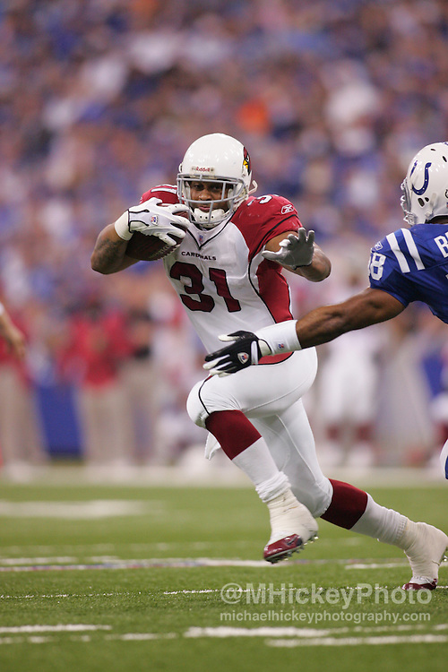 Arizona Cardinals running back Marcel Shipp seen during action against the Indianapolis Colts Jan 1, 2006. The Colts defeated the Cardinals 17-13.