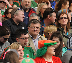 Former Mayo manager John O&rsquo;Mahony amoung the Mayo supporters at McHale Park on saturday last.<br /> Pic Conor McKeown