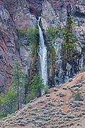 Waterfall in canyon land, Near Lytton, British Columbia, Canada
