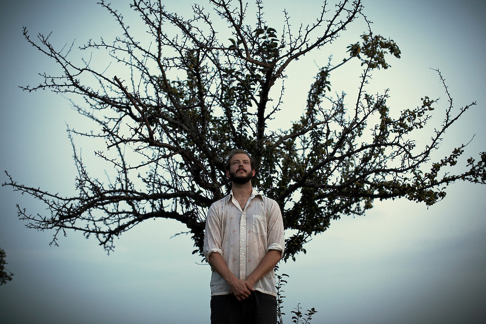 Bon Iver, Justin Vernon, Fall Creek, Wisconsin, USA, July 2010. Photo by D.L. Anderson