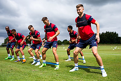 Jens Hegeler in action as Bristol City return for pre-season training ahead of the 2017/18 Sky Bet Championship Season - Rogan/JMP - 30/06/2017 - Failand Training Ground - Bristol, England - Bristol City Training.