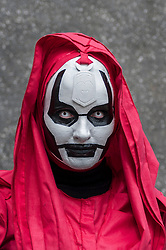 © Licensed to London News Pictures. 24/05/2015. London, UK.  A woman dressed as the mother of Darth Maul from Star Wars poses, as fans of anime, comic books, video games and more gather in large numbers at the Excel Centre to attend the bi-annual MCM Comic Con. Photo credit : Stephen Chung/LNP