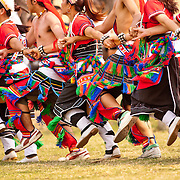 Amis tribe dancers perform at Taiwanese Aboriginal Festival dance performance, Tainan. March 31, 2008