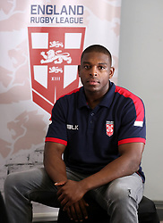 England's Jermaine McGillvary, during the media session at the Village Hotel, Bury. PRESS ASSOCIATION Photo. Picture date: Tuesday October 10, 2017. See PA story RUGBYL England. Photo credit should read: Martin Rickett/PA Wire. RESTRICTIONS: Editorial use only, No commercial use without prior permission.