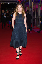 Actress ROSIE MARCEL at the Battersea Dogs & Cats Home's Collars & Coats Gala Ball held at Battersea Evolution, Battersea Park, London on 12th November 2015.