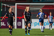 Adelina Engman (Chelsea) walks away following goal while the team attend to injured Danique Kerkdijk (Brighton) during the FA Women's Super League match between Brighton and Hove Albion Women and Chelsea at The People's Pension Stadium, Crawley, England on 15 September 2019.