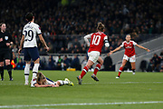 Kim Little scores and celebrates a goal to make it 1-0 during the FA Women's Super League match between Tottenham Hotspur Women and Arsenal Women FC at Tottenham Hotspur Stadium, London, United Kingdom on 17 November 2019.
