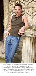 Actor JONATHAN RHYS MEYERS on a trip to Reims, France on 20th August 2002.<br />PCO 92