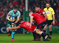 Don Armand of Exeter Chiefs goes by Rhys Marshall of Munster Rugby - Mandatory by-line: Ken Sutton/JMP - 19/01/2019 - RUGBY - Thomond Park - Limerick,  - Munster Rugby v Exeter Chiefs -