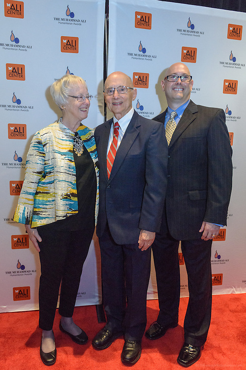 John Rosenberg, founding director of the Appalachian Research and Defense Fund of Kentucky, on the red carpet at the fourth annual Muhammad Ali Humanitarian Awards Saturday, Sept. 17, 2016 at the Marriott Hotel in Louisville, Ky. (Photo by Brian Bohannon for the Muhammad Ali Center)
