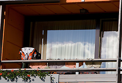 Drying of Cycling dress at MTB Downhill European Championships, on June 13, 2009, at Kranjska Gora, Slovenia. (Photo by Vid Ponikvar / Sportida)