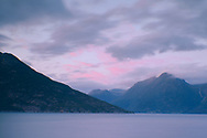 Sunset on Hardanger Fjord, Vestlandet, Norway, Europe