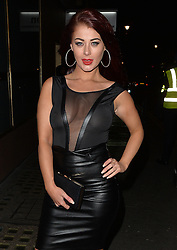 Jess Hayes arriving at the Libertine Club in London, UK. 28/01/2016<br />