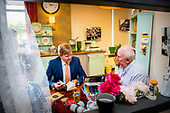 ZAANDAM - King Willem-Alexander brings a working visit to Stichting De Tijdmachine in the nursing home Nieuw Groenland in Zaandam on Tuesday October 9th. The foundation works with elderly people, informal caregivers and experts and volunteers in the care sector on activities that meet the residents' own wishes and needs. ROBIN UTRECHT
