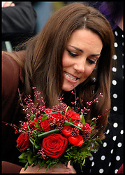 Duchess of Cambridge leaving The Brink bar in Liverpool, Tuesday February 14, 2012. Photo by I-images