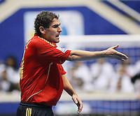 Fussball  International  FIFA  FUTSAL WM 2008   09.10.2008 Vorrunde Gruppe D Spain - Uruguay Spanien - Uruguay DANIEL (ESP) gestikuliert