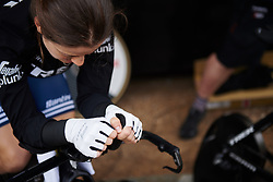 Ruth Winder (USA) warms up for La Madrid Challenge by La Vuelta 2019 - Stage 1, a 9.3 km individual time trial in Boadilla del Monte, Spain on September 14, 2019. Photo by Sean Robinson/velofocus.com