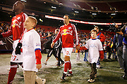 Saturday October 14th 2006. .Giants Stadium, East Rutherford, New Jersey. United States..Red Bulls French soccer player Youri Djorkaeff steps on the field for a game that could be his last one as a professional player against Kansas City at the Giants Stadium.