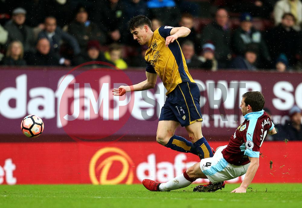 Jon Flanagan of Burnley tackles Callum O'Dowda of Bristol City - Mandatory by-line: Matt McNulty/JMP - 28/01/2017 - FOOTBALL - Turf Moor - Burnley, England - Burnley v Bristol City - Emirates FA Cup fourth round