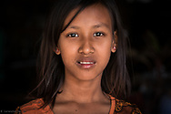 Portrait of a young burmese girl.<br />