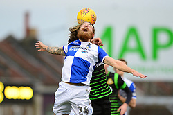 Stuart Sinclair of Bristol Rovers challenges for the header - Mandatory by-line: Dougie Allward/JMP - 23/12/2017 - FOOTBALL - Ashton Gate Stadium - Bristol, England - Bristol City v Manchester United - Carabao Cup Quarter Final