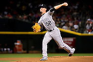 PHOENIX, AZ - APRIL 30:  Chris Rusin #52 of the Colorado Rockies delivers a pitch in the first inning against the Arizona Diamondbacks at Chase Field on April 30, 2016 in Phoenix, Arizona.  (Photo by Jennifer Stewart/Getty Images)