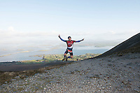 08/11/2014 repro free Conor O'Flaherty, Westport on Croagh Patrick who took part in the Sea 2 Summit adventure race in Westport Co. Mayo. Photo:Andrew Downes