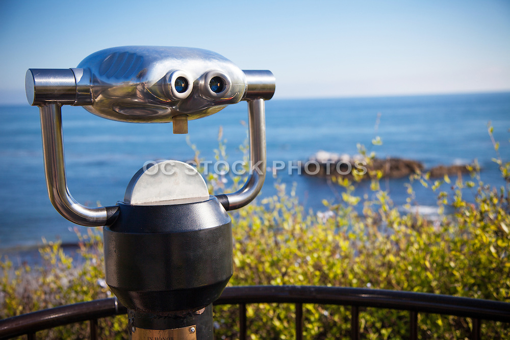 Viewing Binoculars over Bird Rock in Laguna Beach California