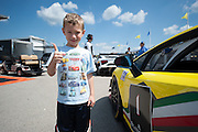 A young fan before the start of race 2.