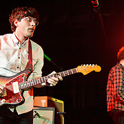 WASHINGTON, DC - January 22nd, 2012 - Guitarist Matthew Mondanile and keyboardist Jonah Maurer of Real Estate perform at the Black Cat in Washington, D.C. The band received critical acclaim for their sophomore album, Days, released in October 2011. (Photo by Kyle Gustafson/For The Washington Post)