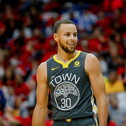 May 6, 2018; New Orleans, LA, USA; Golden State Warriors guard Stephen Curry (30) against the New Orleans Pelicans during the fourth quarter in game four of the second round of the 2018 NBA Playoffs at the Smoothie King Center. The Warriors defeated the Pelicans 118-92. Mandatory Credit: Derick E. Hingle-USA TODAY Sports