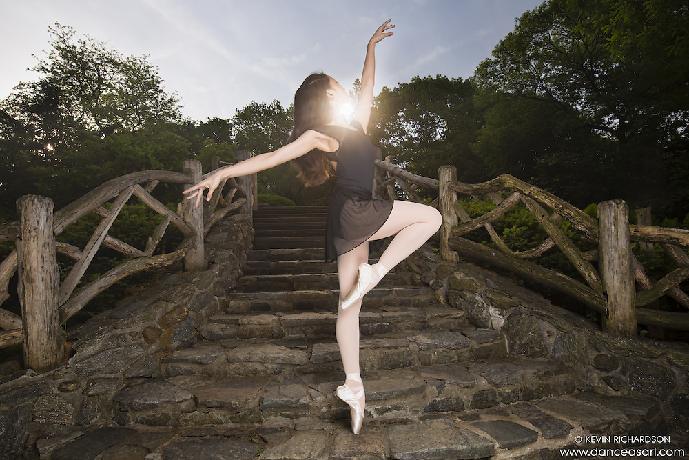 Dance As Art Central Park New York City with ballerina Amarra Hong. Clothing by Energetiks