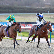 Clerk's Choice and Jim Crowley winning the 3.00 race
