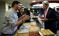 MAY 23 2013 John Kerry visits a food shop in Ramallah
