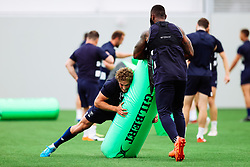 Tiff Eden and Semi Radradra as Bristol Bears start to use their new almost completed Training centre - Rogan/JMP - 08/07/2020 - RUGBY UNION - Beggar Bush Lane - Bristol, England.