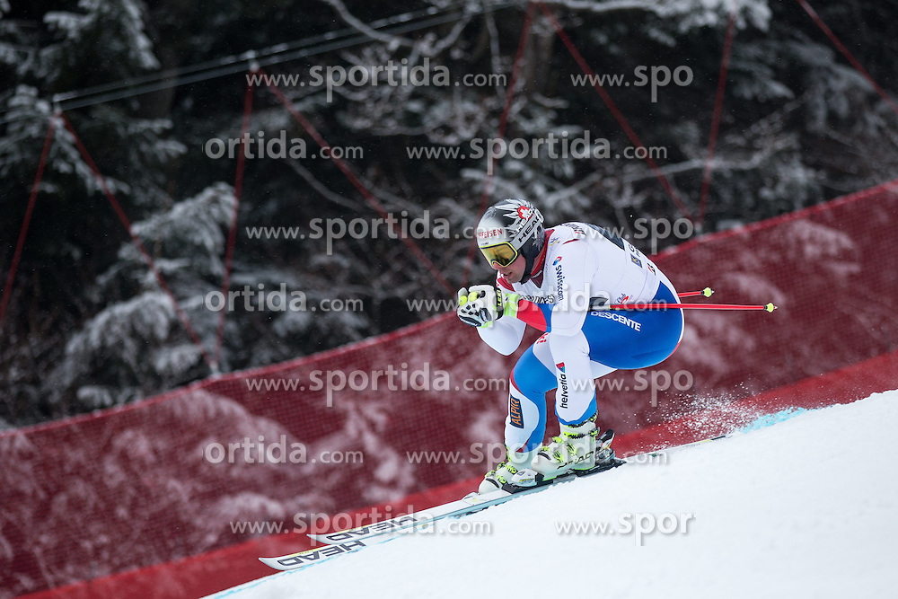 28.02.2015, Kandahar, Garmisch Partenkirchen, GER, FIS Weltcup Ski Alpin, Abfahrt, Herren, im Bild Beat Feuz (SUI) // Beat Feuz of Switzerland in action during the men's Downhill of the FIS Ski Alpine World Cup at the Kandahar course, Garmisch Partenkirchen, Germany on 2015/02/28. EXPA Pictures © 2015, PhotoCredit: EXPA/ Johann Groder