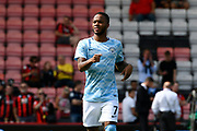 Raheem Sterling (7) of Manchester City warming up before the Premier League match between Bournemouth and Manchester City at the Vitality Stadium, Bournemouth, England on 26 August 2017. Photo by Graham Hunt.