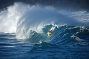 Bodyboarder, Waimea Bay, North Shore, Oahu, Hawaii