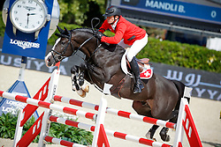 Mandli Beat (SUI) - Croesus<br /> Furusiyya FEI Nations Cup Jumping Final Round 1<br /> CSIO Barcelona 2013<br /> © Dirk Caremans