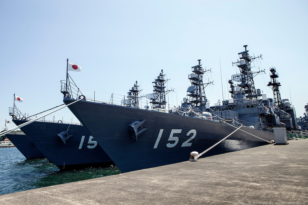 The Yamagiri destroyer ship of the Japanese MSDF.<br /> <br /> Miho Ootani, the first woman destroyer captain of Japan's Marine Self Defence Forces (MSDF), on board the Yamagiri in Yokosuka army base near Tokyo.