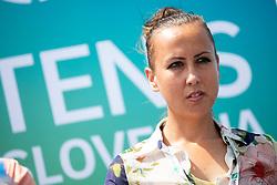 Nina Spremo (organizer of Tennis Fest) at press conference of ATP Challenger Zavarovalnica Sava Slovenia Open 2018, on August 6, 2018 in Sports centre, Portoroz/Portorose, Slovenia. Photo by Urban Urbanc / Sportida
