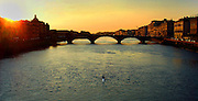 L'arno rower in Florence, Italy.