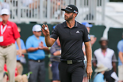 September 22, 2018 - Atlanta, Georgia, United States - Dustin Johnson waves to the crowd after putting the 9th green during the third round of the 2018 TOUR Championship. (Credit Image: © Debby Wong/ZUMA Wire)