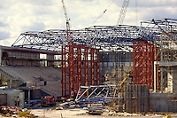 Sheffields Hallam FM Arena during construction