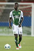 FRISCO, TX - JUNE 26:  Pa Modou Kah #44 of the Portland Timbers controls the ball against FC Dallas on June 26, 2013 at FC Dallas Stadium in Frisco, Texas.  (Photo by Cooper Neill/Getty Images) *** Local Caption *** Pa Modou Kah